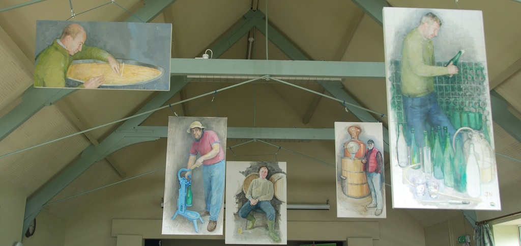 Jean Nowell's paintings of local cider makers