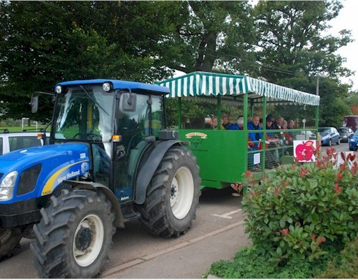 Tractor and trailer bus service