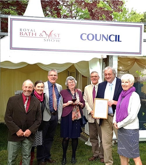 Jackie Denman receives Gold Award at Bath and West Show