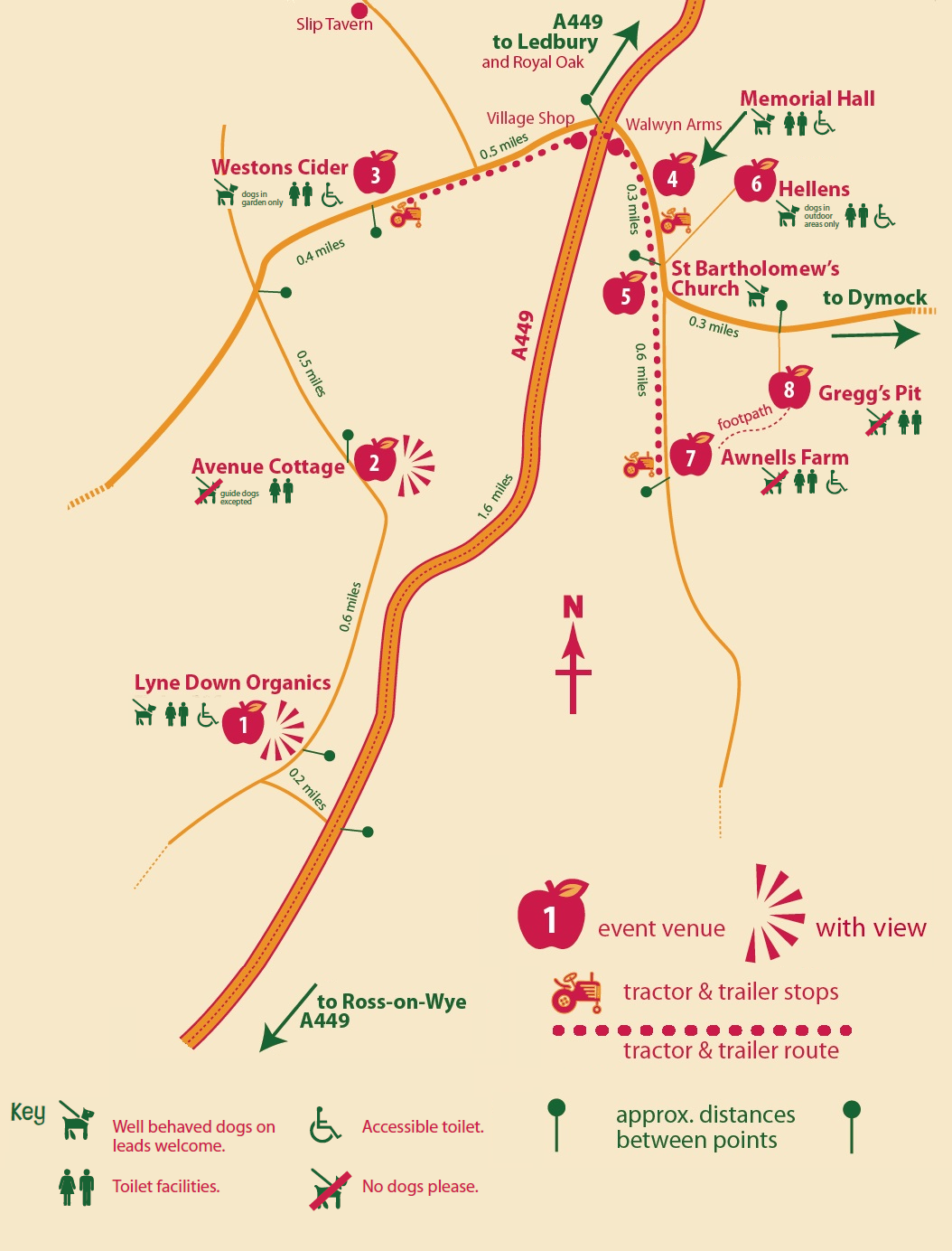 Harvestime 2018 Location Map